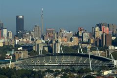 Estádio novo 2 de Joanesburgo foto de stock