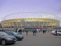 Estádio novo do esporte em kiev, construção do futebol Fotografia de Stock