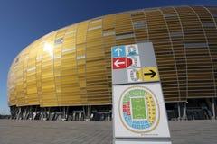Estádio novo do euro 2012 em Gdansk, Poland Foto de Stock