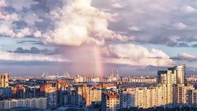 Estádio novo em St Petersburg Rússia para o campeonato do mundo 2018 de FIFA e o Euro do UEFA 2020 eventos Fotos de Stock Royalty Free