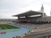 Estádio olimpic de Barcelona Fotos de Stock