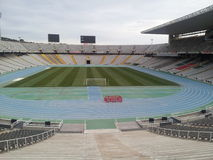 Estádio olimpic de Barcelona Fotografia de Stock Royalty Free