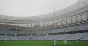 Estádio vazio do rugby na manhã 4k vídeos de arquivo