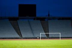 Estádio vazio e o objetivo Imagem de Stock Royalty Free