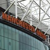 Estádio velho de Trafford - Manchester United fotografia de stock