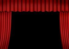 Estágio com cortina vermelha Imagem de Stock Royalty Free