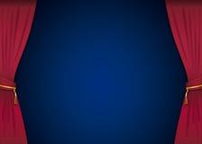 Estágio com cortinas vermelhas Imagens de Stock Royalty Free