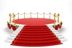 Estágio com tapete do representante ilustração royalty free