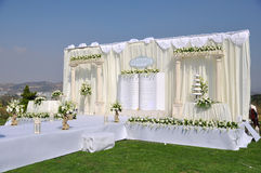 Estágio do casamento fotografia de stock royalty free