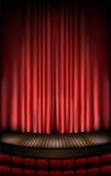 Estágio do teatro ilustração royalty free