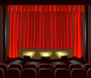 Estágio do teatro Foto de Stock Royalty Free