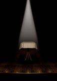Estágio do teatro do vintage com projector branco. Ilustração do Vetor