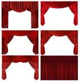 Estágio elegante antiquado vermelho dramático e do teatro Foto de Stock Royalty Free