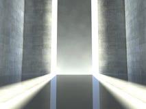 estágio interno 3d, vazio moderno Fotografia de Stock Royalty Free