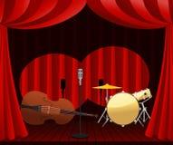Estágio para a mostra do jazz Imagens de Stock Royalty Free