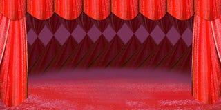 Estágio vermelho ilustração royalty free