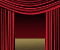 Estágio vermelho da cortina Fotografia de Stock Royalty Free
