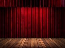 Estágio vermelho da cortina Imagens de Stock