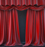Estágio vermelho da cortina Foto de Stock