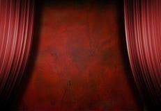 Estágio vermelho vazio de Grunge Fotografia de Stock Royalty Free