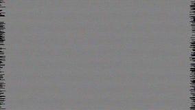 Estática da tevê com vídeo estereofônico do ruído branco movimentos vídeos de arquivo