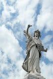 Estátua afligido do cemitério do anjo do 19o século Imagem de Stock Royalty Free