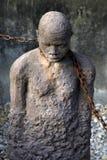Estátua africana do tráfico de escravos imagens de stock royalty free