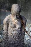 Estátua africana do tráfico de escravos fotografia de stock