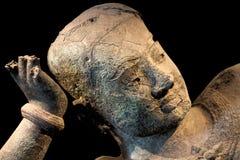 Estátua antiga, Camboja fotografia de stock