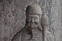 Estátua antiga chinesa da pedra do guerreiro Imagem de Stock
