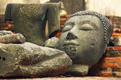 Estátua antiga da Buda Fotos de Stock Royalty Free