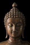 Estátua antiga da Buda do close up com trajeto de grampeamento imagens de stock