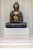 Estátua antiga da Buda do ouro/bronze Foto de Stock