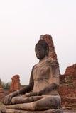 Estátua antiga da Buda no templo Ayutthaya Tailândia Fotografia de Stock
