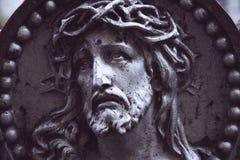 Estátua antiga de Jesus Christ imagens de stock