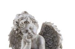 Estátua antiga do anjo isolada fotos de stock royalty free