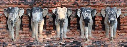 Estátua antiga do elefante Fotos de Stock