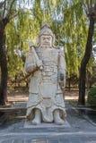 Estátua antiga do guerreiro, Pequim, China Fotos de Stock