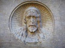 Estátua antiga do sofrimento de Jesus Christ Religion, conceito da ressurreição da fé imagem de stock