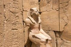 Estátua assentada do faraó Thutmose III imagem de stock royalty free