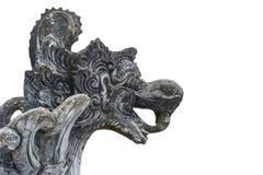 Estátua assustador da mitologia isolada no fundo branco imagem de stock