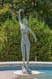 Estátua azul do jardim do palácio fotografia de stock royalty free
