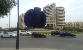 Estátua azul Valência de Beniferri fotografia de stock royalty free