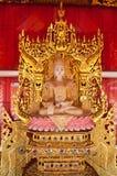 Estátua branca da Buda Fotos de Stock