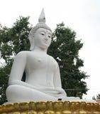 Estátua branca de buddha Fotografia de Stock