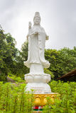 Estátua branca do jade do deus fêmea dos chineses em laos Imagens de Stock