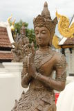 Estátua budista na cidade velha, Chiang Mai foto de stock