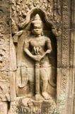 Estátua carreg da espada, som de Ta, Angkor Fotos de Stock