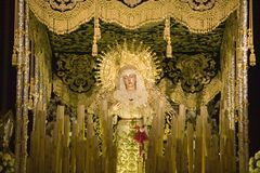 A estátua católica religiosa é vista em Sevilla Cathedral, Espanha do sul Fotos de Stock Royalty Free