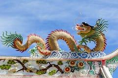 Estátua chinesa do dragão Fotografia de Stock Royalty Free